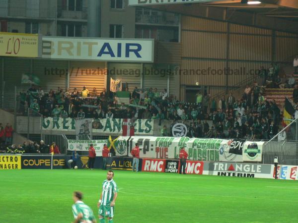 supporters verts en grève des encouragements
